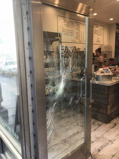Store front glass inspection