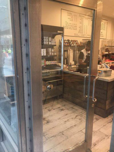 Store front glass replaced