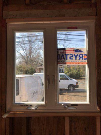 Casement Crystal window Installation Long island house
