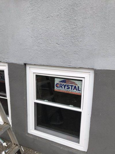 Bronx house Crystal window