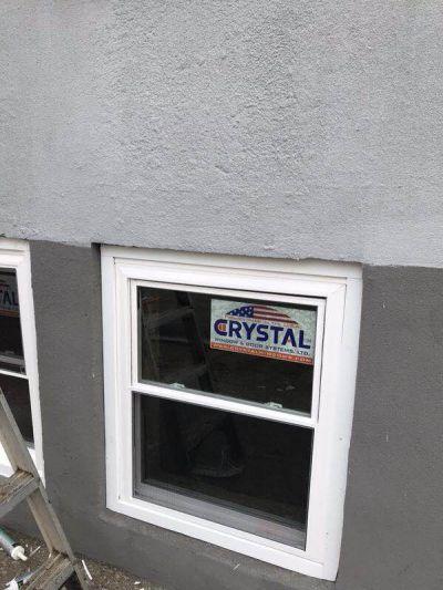 Bronx house Crystal window