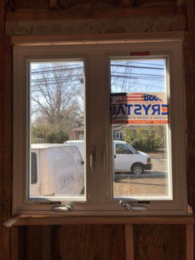 Casement Crystal window Installation Long island house