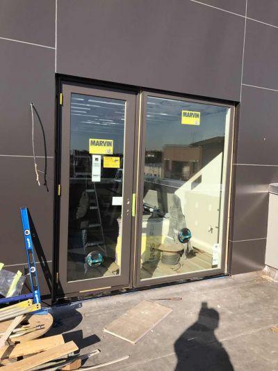New Marvin entrance door