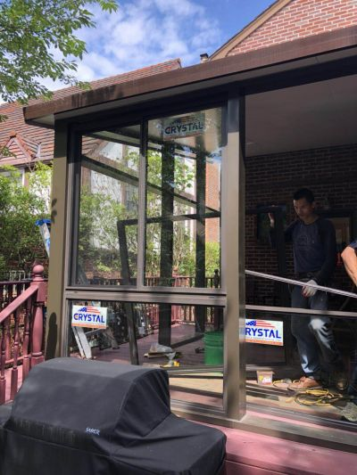 Queens house Crystal sunroom installation