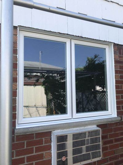 Crystal window White Stone house residential